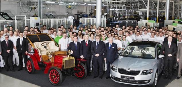 15 mln samochodów Skody