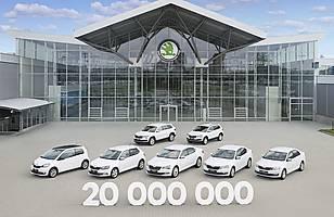 20 milionów samochodów Skody