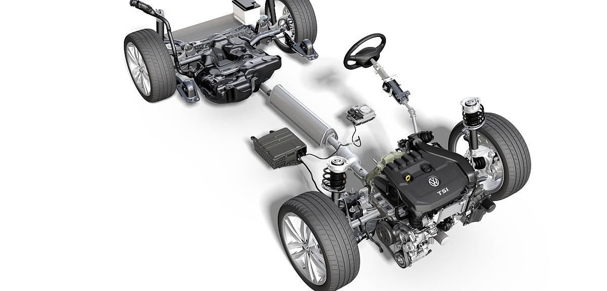 Volkswagen Golf jako hybryda mild