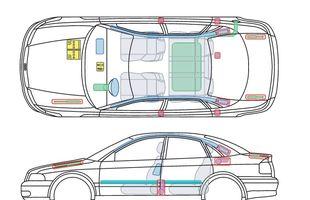 Przykładowa karta ratownicza Audi A4