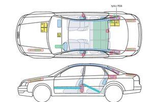 Przykładowa karta ratownicza Audi A6